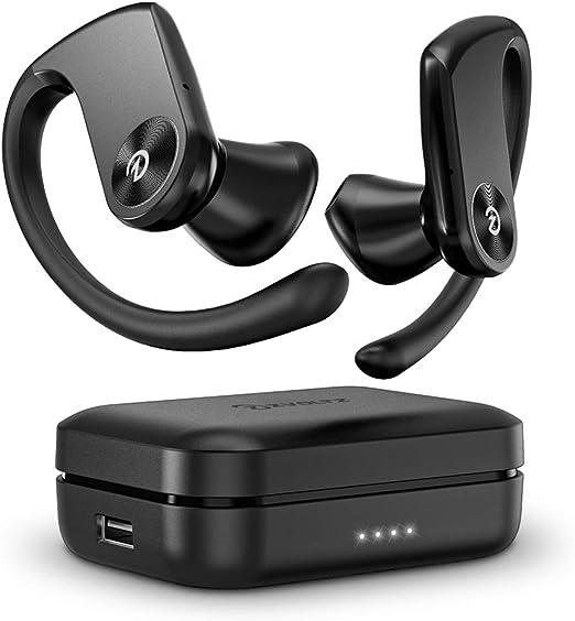 Amazon.com: ZVOLTZ Pro Wireless Earbuds Sport Running Ear Hooks Bluetooth Earphone 5.0 in-Ear Wireless Headphones IPX5 Sweat Resistance w/Mic & Charging Case, Built-in Battery Pack for Workout Gym Sport, Black: Electronics