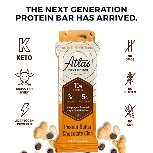 Atlas Protein Bar - Keto Friendly, Variety Pack (9-Pack) - Grass Fed Whey, Low Sugar, Clean Ingredients, All Natural, Gluten Free, Soy Free, and GMO Free