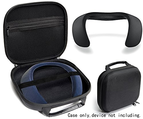 Protective Case for Bose Soundwear Companion Wireless Wearable Speaker by WGear, Featured Designed with Excellent Protection, Removable Mesh Pocket for Cable and Other accessorie (Ballastic Black) by WGear