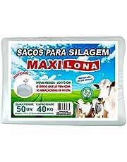 Sacos para Silagem 51x110cm 50 un. Branco 200 Micras Reforçado + 50 Abc. Nylon