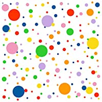 Easma Polka Dots Wall Decals(224Dots) Vinyl Wall Decal Dots Removable Primary Colors Vinyl Circle Wall Stickers Easy Peel and Stick