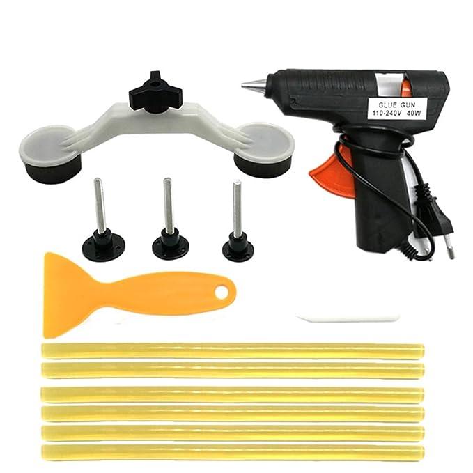 EU KKmoon 110-240V 40W Strumento di Riparazione Ammaccatura Senza Vernice Pistola per Colla Caldo con 10 Pezzi Stick Colla