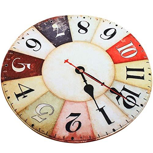 Amazon.com: Home Rugs Clock Shaped Area Rug Vintage Round