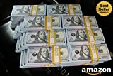 500K $ FULL PRINT NOVELTY BANKNOTES CINEMA PROP MONEY 2 DOUBLE SIDED FRONT AND BACK REPLICA COPY HALF A MILLION FAKE LOOK REAL MOTION PICTURE ONLY STACK BUNDLE GREAT FOR PRANKS MOVIES ADVERTISING