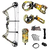iGlow 30-55 lbs Tree Camouflage Camo Archery Hunting Compound Bow with Premium Kit 175 150 70 55 40 30 lb Crossbow