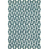 "Loloi WESNHWS09IVTE3656 Rugs, Weston Collection, Ivory/Teal, 3'-6"" x 5'-6"""