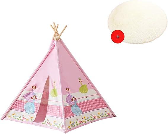 Kibten Dibujos animados en 5 caras Lado rosado Niñas Princesa Castillo Tienda de campaña Niños pequeños