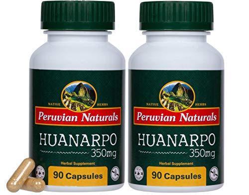 Puama Root Muira (Huanarpo 350mg - 180 Capsules - Peruvian Naturals | Wild-Grown Huanarpo Macho Bark Powder from Peru (