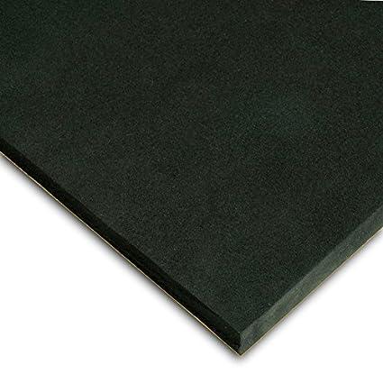 Caucho Esponjoso Plancha Adhesivo Medidas 50cm x 100cm Grueso 3mm Color negro