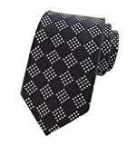 Comaba Men More Choice Floral Printed Business Polyester Plaid Ties Necktie Pattern16 OS