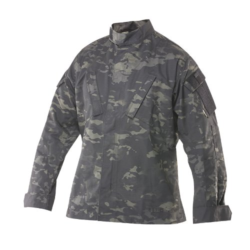 TRU-SPEC Tactical Response Shirt, Multicam Black, 3X-Large Long by Tru-Spec