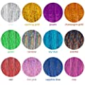 Tatuo Hair Tinsel Strands 47 Inches Sparkling Shiny Hair Tinsel Extensions 12 Colors (1800 Pieces)