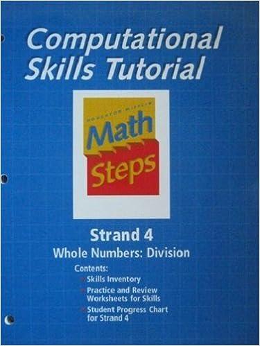amazoncom houghton mifflin math steps skills kit workbook   houghton mifflin math steps skills kit workbook  grades  workbook  edition