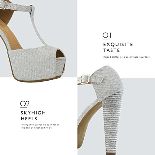Dress Extreme Casual T Shoes Pumps DailyShoes Silver Ankle Sandal Peep Toe Platform Evening Gl Women's Buckle Open Toe Strap Party wBBqaZ7n