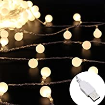 Ball Led String Lights,RcStarry(TM) 33Feet 100 LED Globe String Lights Waterproof Starry Lights for outdoor,Home,Garden,Patio,Wedding,Party,Christmas With USB plug,Warm White