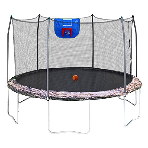 Skywalker Trampoline with Safety Enclosure and Basketball Hoop