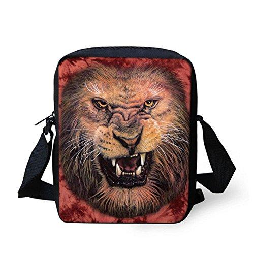 Handbag Strap Bag Pouch Lion Head Small Printed HUGS Shoulder Wolf Adjustable Messenger Cellphone Satchel IDEA x8qPYRYS