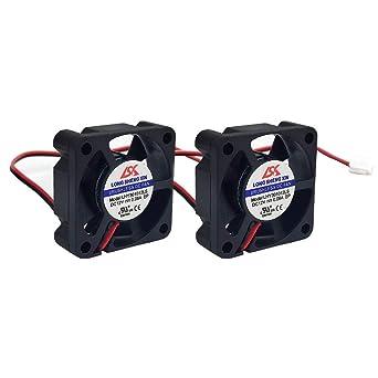 HAWKUNG 2 Pieza Impresora 3D Ventilador de Enfriamiento Extrusora Accesorio 3010 30 x 30 x 10 mm DC 5V 2 Pin Conector Rodamiento Silent Brushless ...