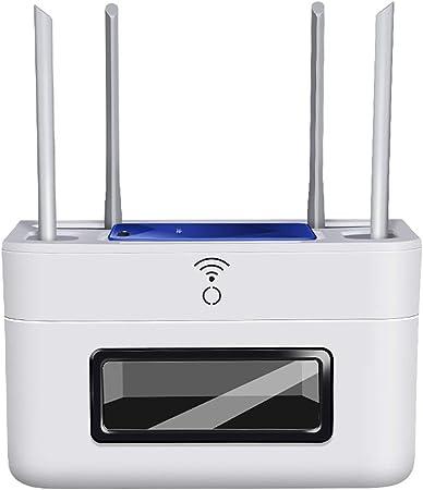ZYFBG Estantes de Pared Router WiFi Cajas de Almacenamiento Plataforma/Organizador de Cables Caja/TV de Pared de Consola, Salón contemporáneo, Comedor o Sala de Estar Muebles Accesorios: Amazon.es: Hogar
