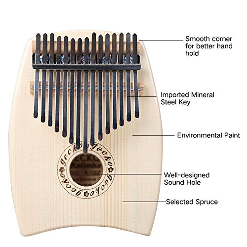 MG.QING 15-Key Kalimba Spruce G-Tone Acoustic Thumb Piano Finger Instrument Gift by MG.QING (Image #2)