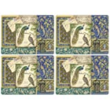 Peacock Tapestry Placemat, Set Of 4