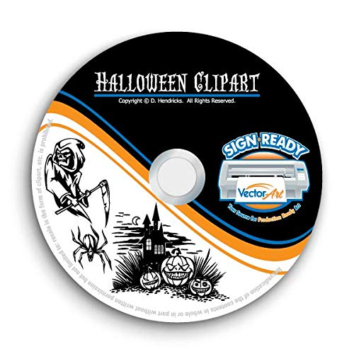 Halloween Clipart-Vector Clip Art-Vinyl Cutter Plotter Images-T-Shirt Graphics CD