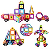 XUELIEE Magnetic Building Blocks Set, 72 Pieces Magnetic Construction Stacking Educational Stacking Toys for Kids and Adults