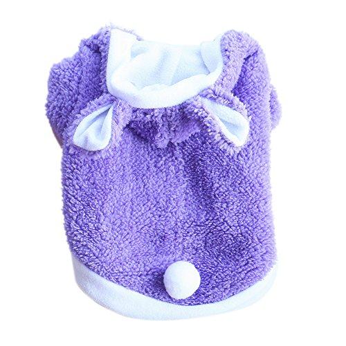 - succeedtop Fashion Cute Rabbit Clothing Puppy and Kitten Pet Transform Small Pet Cat Dog Clothes Vest Pet Apparel Mini Dog Shirts Super Cute Puppy T Shirt Costumes Cat Tank Top Dress (S, Purple)