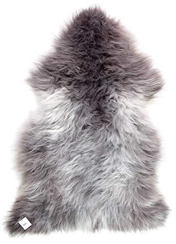 (Minidoka Sheepskin, Natural and Un-Dyed from The Colorful Shetland Sheep, Single Pelt Sheepskin Rug, Large Size, 1019)