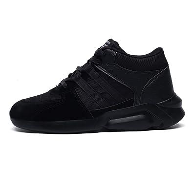 Chaussure Homme de Basket Sneakers Multisport Indoor Sport Velcro Mesh  Semelle Epais Léger Antidérapant Noir 39 89bde73cb441