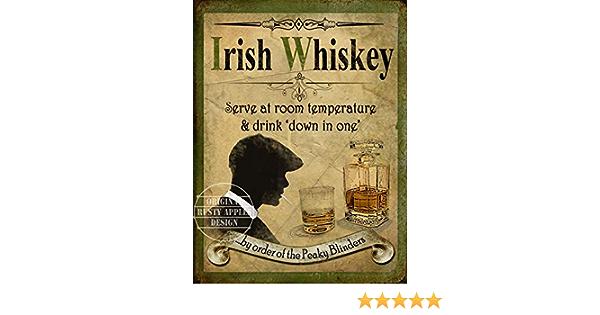 Peaky Blinders Whisky by Orden, guía de Bebidas, Letrero de Metal, Ideal para Regalo