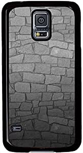 Dark Gray Wall Texture Samsung Galaxy S5 Case Durable Protective Case for Black Cover Skin - Compatible With Samsung Galaxy S5 SV i9600