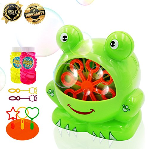 Bubble Machine for Kids Bubble Toys Automatic Durable for Kids Boys Girls Durable Bubble Maker 500 Bubbles per Minute Bubble Machines for Birthday Party, Wedding, (Green-Bubble Machine) by Bi-Smart