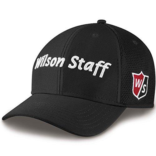 Wilson Tour Hat (Wilson Staff Mesh Cap, Black)