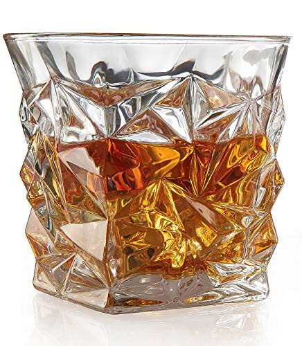 sses - Luxury Elegant Whiskey Glasses The Wine Savant New Style Old Fashioned Drink Glasses - Glassware set - Scotch Brandy or Bourbon Tumblers, 12 oz. ()