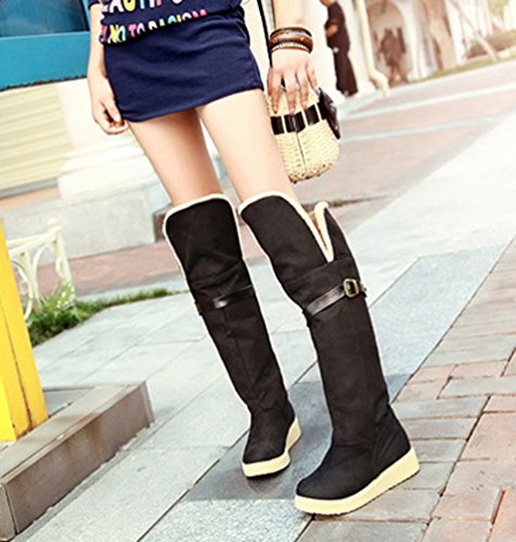 Shoes Yiiiquan Thick Booties High Heel Yiiquan Warm Flat Black Bottom Winter Women's Boots Snow 4I0xwd7wqT