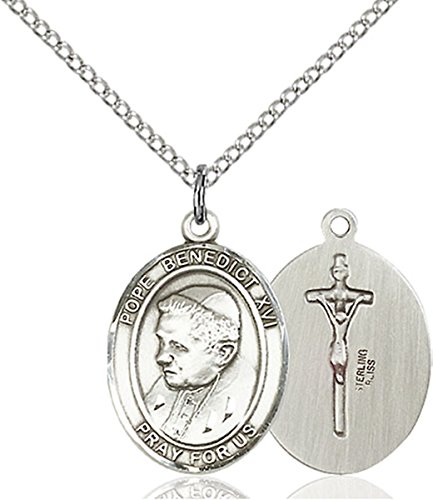 bliss Sterling Silver Pope Benedict XVI Medal Pendant, 3/4 Inch