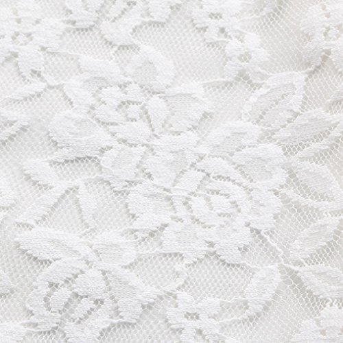 BELS Baby Girls Princess Dress Lace Flower White Party Wedding Summer Dress Clothes(White,4-5T) by BELS (Image #2)