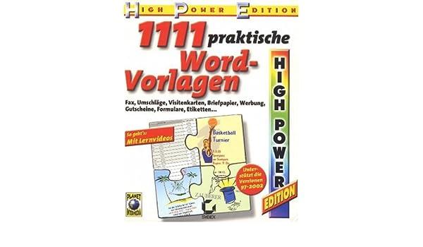 Amazon Com 1111 Word Vorlagen Na Software