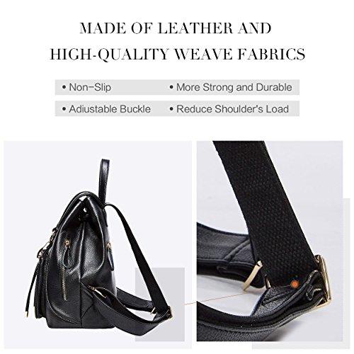 moda Borsa viaggio nera pelle donna viaggio in per borsa da da rosa vera da BOYATU donna q4Rq5wHrfP