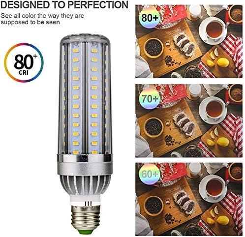 Dmygo 54W (8 paquetes) Edison E27 LED bombilla del maíz 540 Watt Equivalente, Base tornillo, no regulables, Warm 3000K blanco, 6080LM, CRI 80+