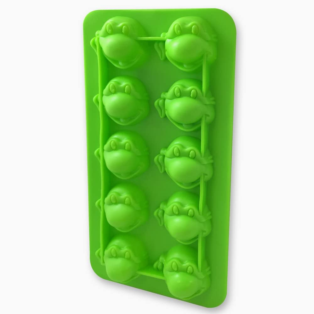 ICUP Nickelodeon - TMNT Turtle Head Molded Green Rubber Ice Cube Tray