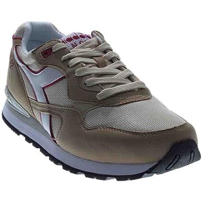 Scarpe sneakers Diadora da uomo in tessuto e camoscio beige