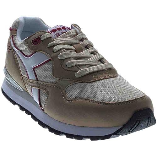 Scarpe sneakers Diadora da uomo in tessuto e camoscio beige con contorno  fucsia. N-92 taglia 40  Amazon.it  Scarpe e borse 25c17c32199