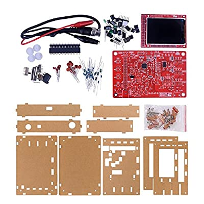 """JYETech Handheld Pocket-size 2.4"""" TFT Display DSO138 Oscilloscope DIY Kit with Acrylic Protective Case,DIY Parts and Probe are Included"""