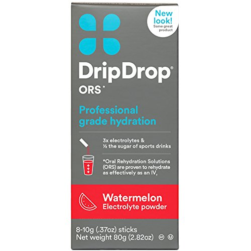 Bar Mate - DripDrop ORS Electrolyte Hydration Powder Sticks, Watermelon, 10g, 8 Count