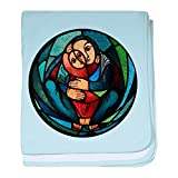 Truly Teague Baby Blanket Stained Glass Mother and Child - Sky Blue