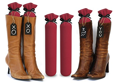 My Boot Trees, Boot Shaper Stands for Closet Organization. Many Patterns to Choose from. 1 Pair. (Red)