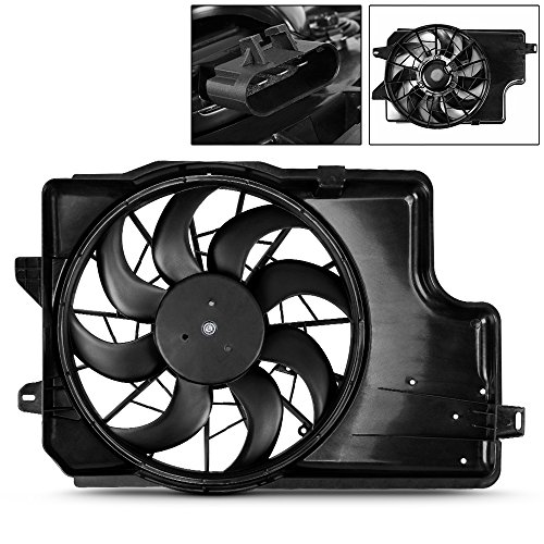 For FO3115129 Radiator AC A/C Condenser Cooling Fan Assembly For 1994 1995 1996 Ford Mustang V6 3.8L ()