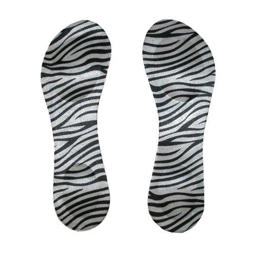 CTM® Womens Zebra Print High Heel Insoles, Zebra ()
